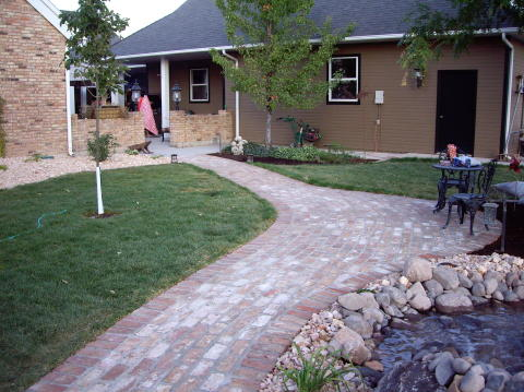 brick patio and walkway