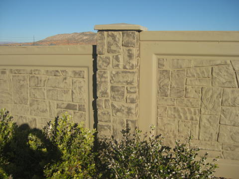 painted pre cast concrete fence