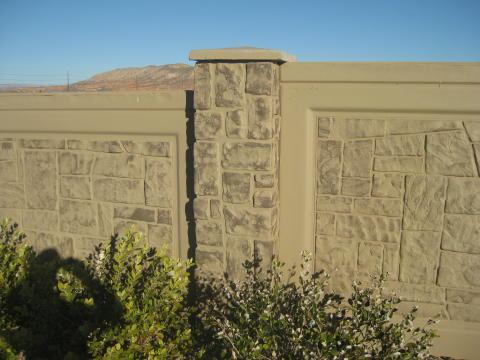 painted pre cast concrete fence