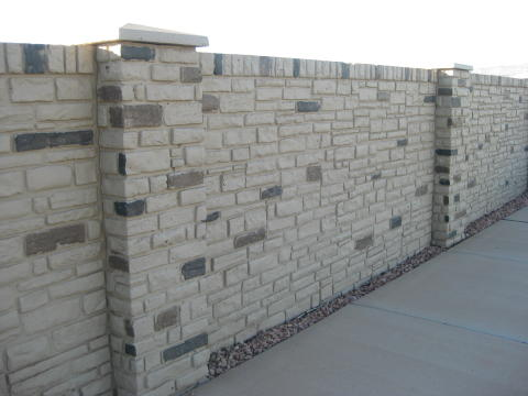 Ugly precast concrete fence