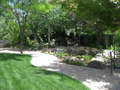 patios paths and ponds