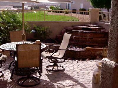 waterfeature inside courtyard