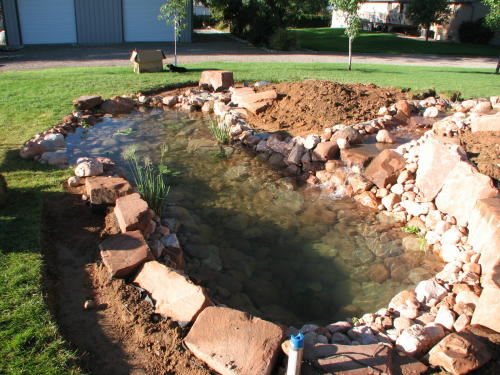 pond construction