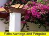 wood pergola with flowers