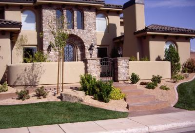Front yard landscaping ideas for Front yard courtyard design