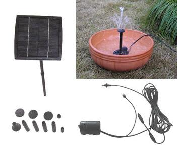 fountain pump with its own solar panel