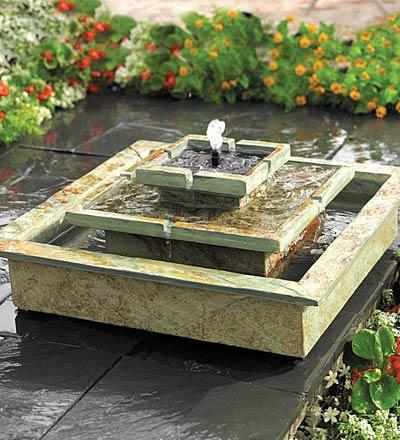 solar garden fountain