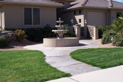 multi tiered fountain