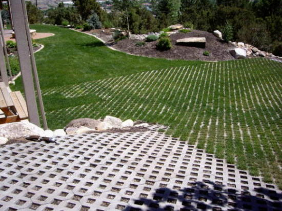 turfstone driveway in lawn areas