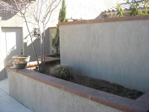 raised planter and privacy wall