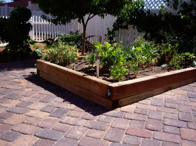 well planned garden area