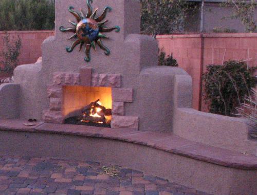 fireplace trim stone