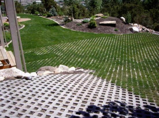 turfstone driveway in lawn areas