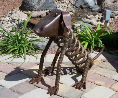 iron art dog